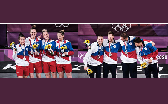 Мужская и женская команды ОКР - СЕРЕБРЯНЫЕ ПРИЗЕРЫ Олимпиады по баскетболу 3х3!